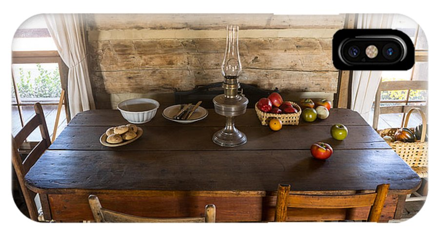 Pioneer IPhone X Case featuring the photograph Pioneer Kitchen Table by Douglas Barnett