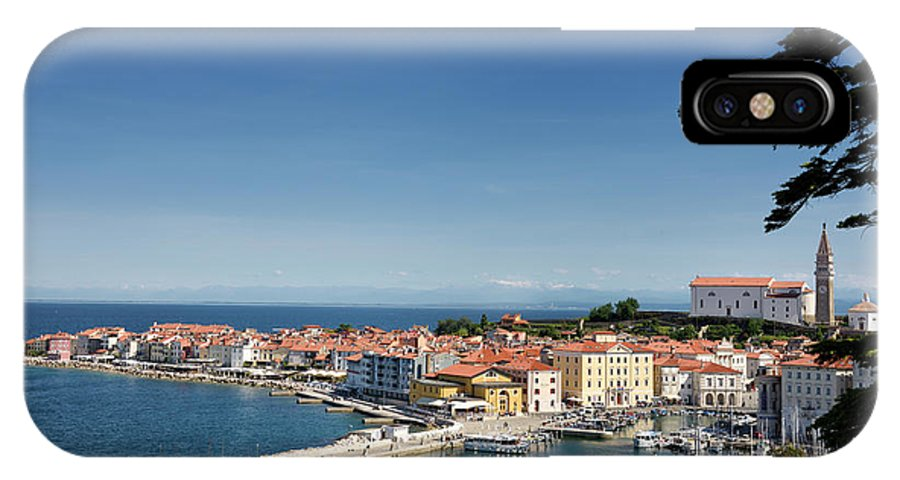 Piran IPhone X Case featuring the photograph Piran Slovenia Gulf Of Trieste On The Adriatic Sea From The Punt by Reimar Gaertner