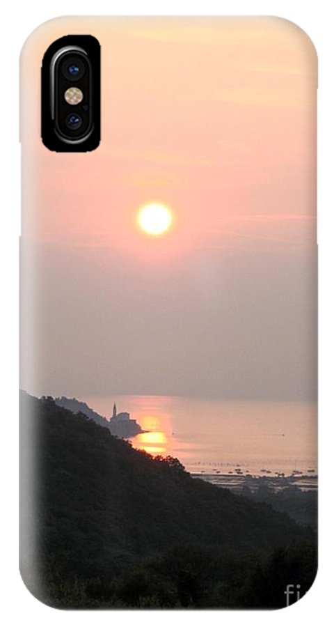 Sunset IPhone X Case featuring the photograph Piran's Sunset II by Dragica Micki Fortuna
