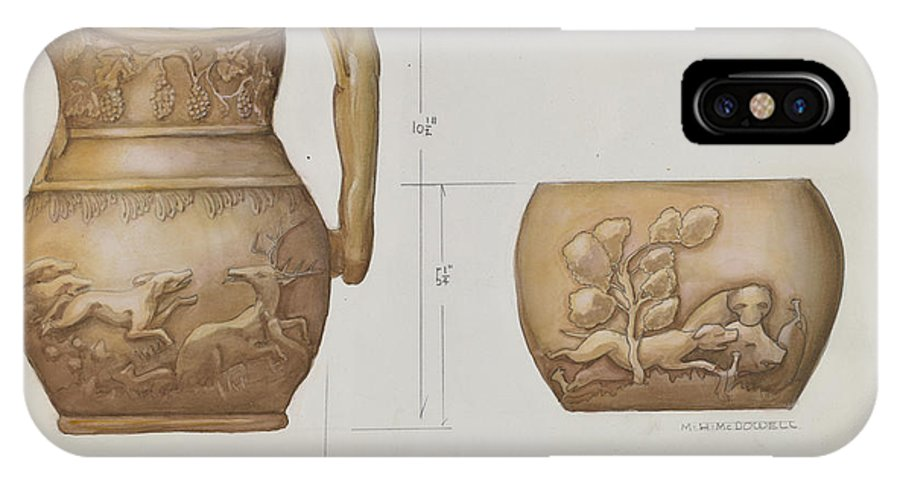 IPhone X Case featuring the drawing Pitcher by M.h. Mcdowell