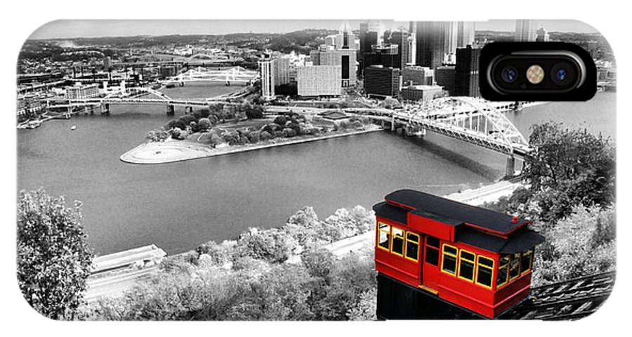 Pittsburgh Skyline IPhone X Case featuring the photograph Pittsburgh From The Incline by Michelle Joseph-Long