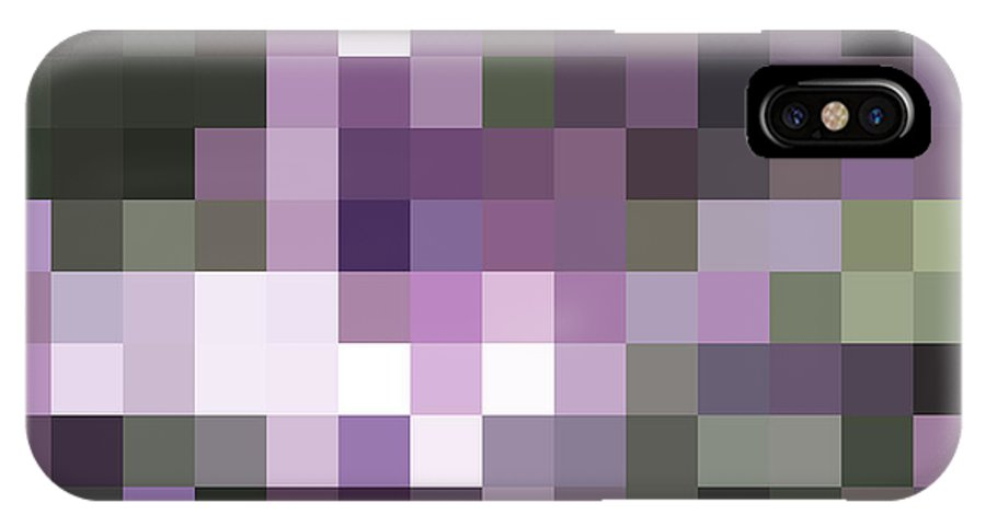 Abstract IPhone X / XS Case featuring the photograph Pixelated by Rona Black