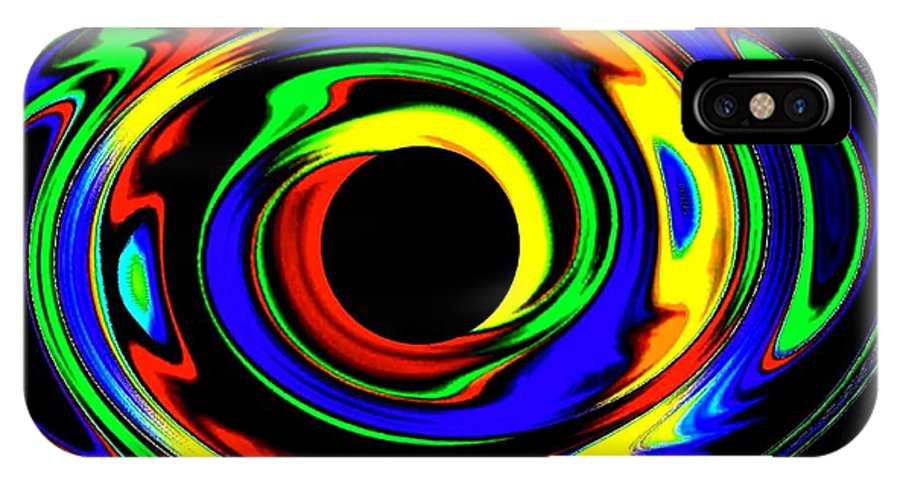 Abstract IPhone X Case featuring the digital art Pizzazz 12 by Will Borden