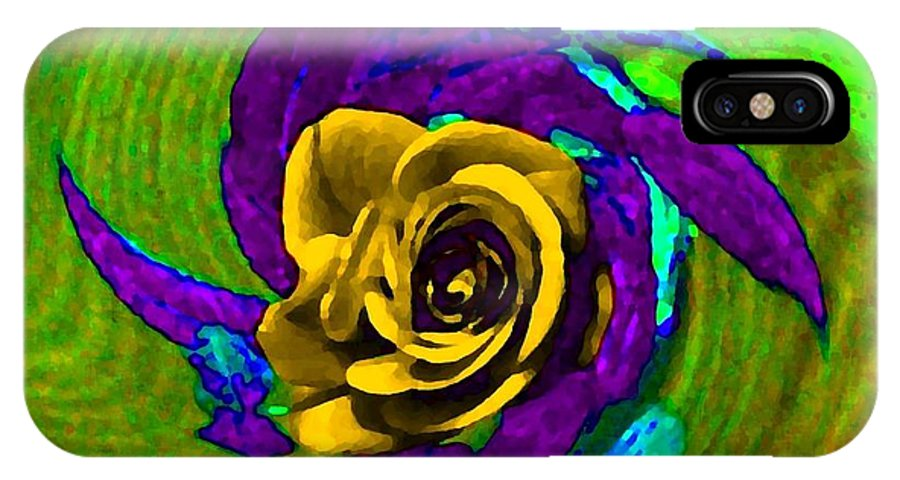 Abstract IPhone X Case featuring the digital art Pizzazz 4 by Will Borden