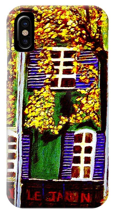 Paris IPhone X / XS Case featuring the painting Place De La Paix by Rusty Gladdish