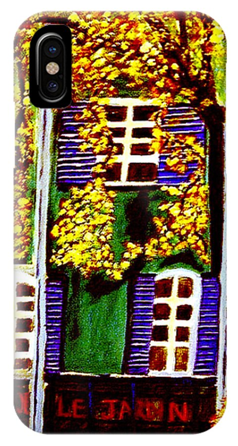 Paris IPhone X Case featuring the painting Place De La Paix by Rusty Gladdish