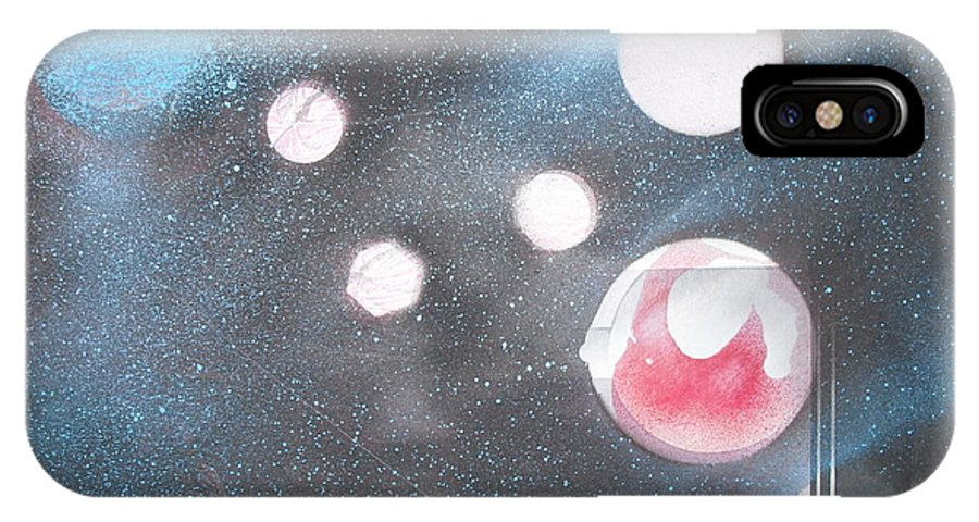 Space Art Planets IPhone X Case featuring the painting Planet Cripton by Troix Johnson