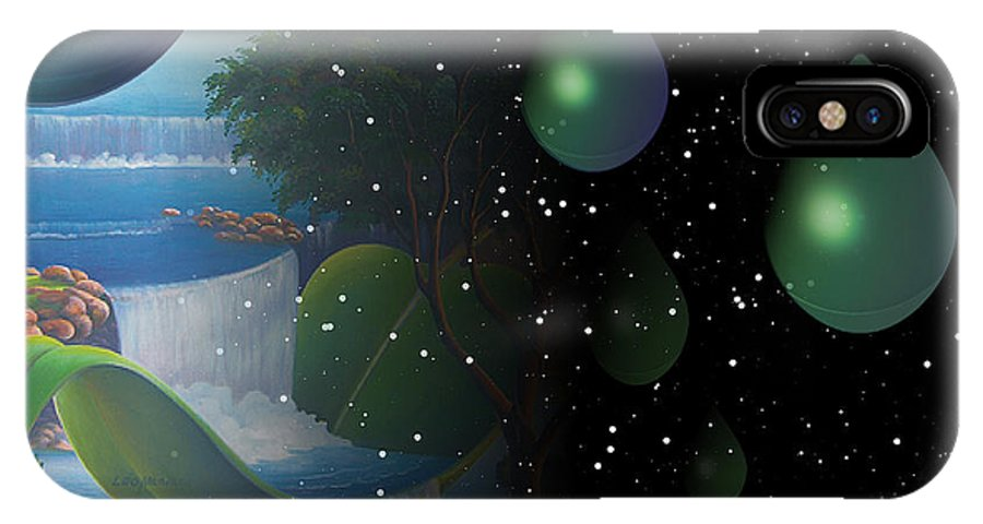 Suarrealism IPhone Case featuring the painting Planet Water by Leomariano artist BRASIL