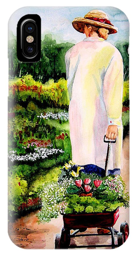Garden IPhone Case featuring the painting Planting Plans by Karen Stark