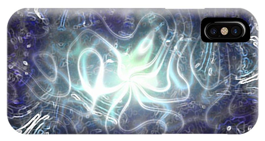 Plasma IPhone X Case featuring the digital art Plasma by Chris Hall