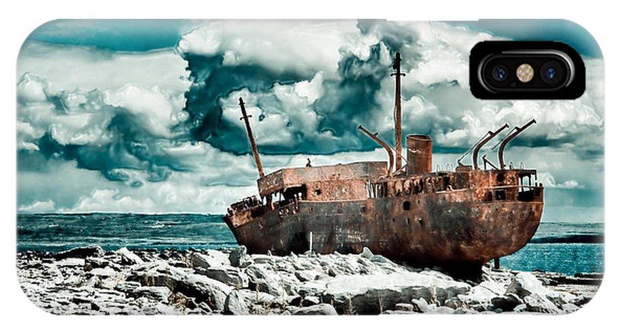 Plassey IPhone X Case featuring the photograph Plassey Wreck by Gabriela Insuratelu