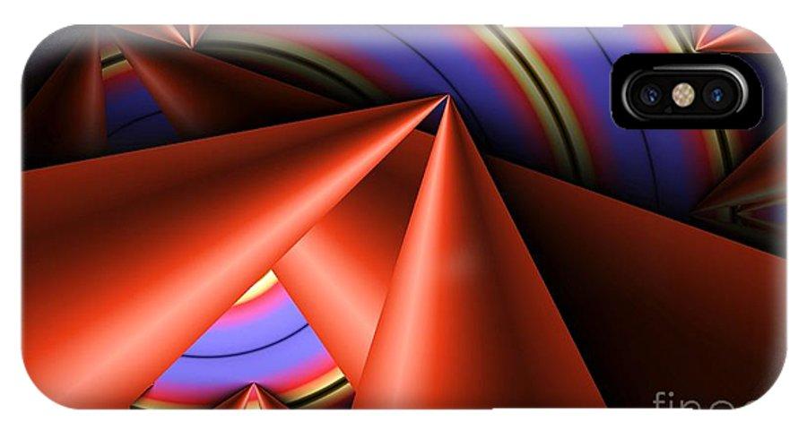Platter IPhone X Case featuring the digital art Platter by Ron Bissett