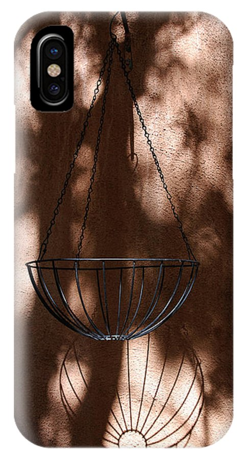 Photography IPhone X Case featuring the photograph Play With Shades by Susanne Van Hulst