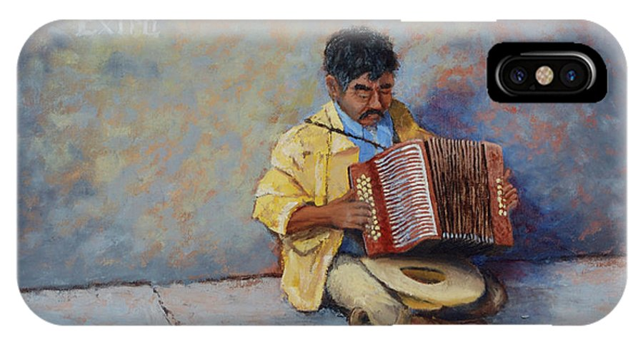 Mexico IPhone Case featuring the painting Playing For Pesos by Jerry McElroy