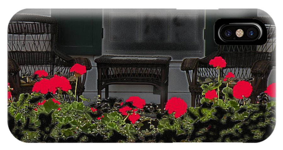 Porch IPhone X Case featuring the photograph Pleasant Evening by Rosalie Scanlon