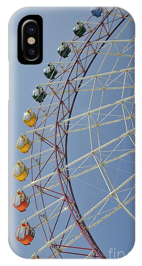 Seacle Rinku Pleasure Town IPhone X Case featuring the photograph Pleasure Town Ferris Wheel by Andy Smy
