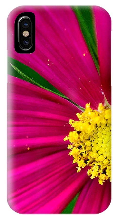 Plink IPhone X Case featuring the photograph Plink Flower Closeup by Michael Bessler