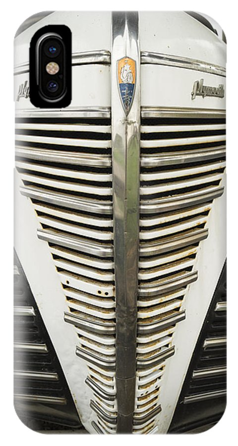Automotive IPhone X Case featuring the photograph Plymouth Grille by Craig David Morrison