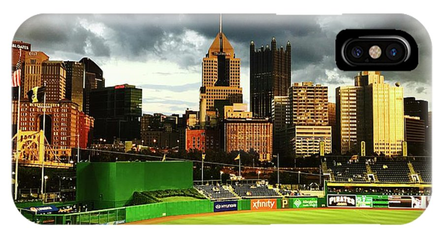 Pittsburgh IPhone X Case featuring the photograph Pnc Park by Michael Krek