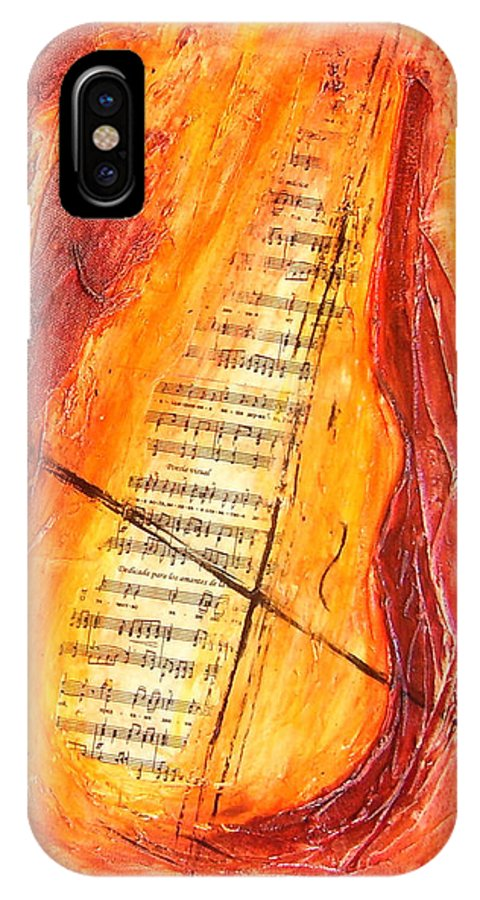 Music IPhone X / XS Case featuring the painting Poesial Visual by Ivan Guaderrama