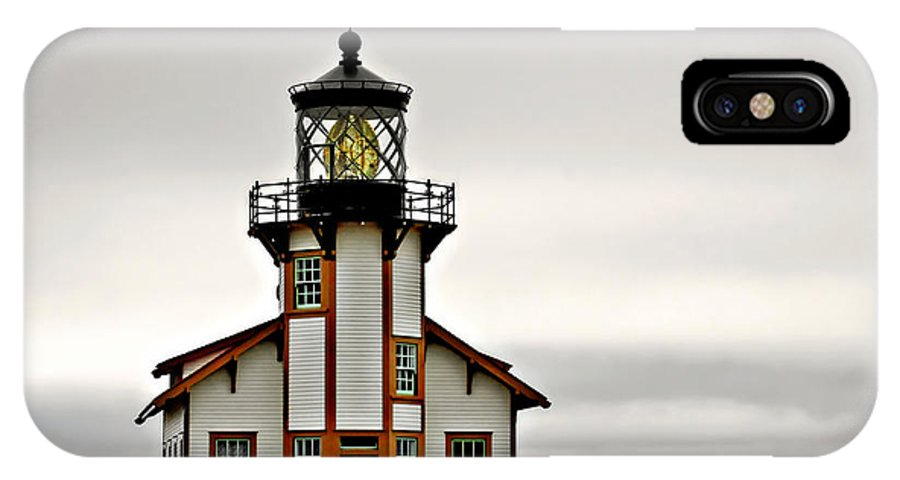 Point Cabrillo Lighthouse IPhone X Case featuring the photograph Point Cabrillo Lighthouse California by Christine Till