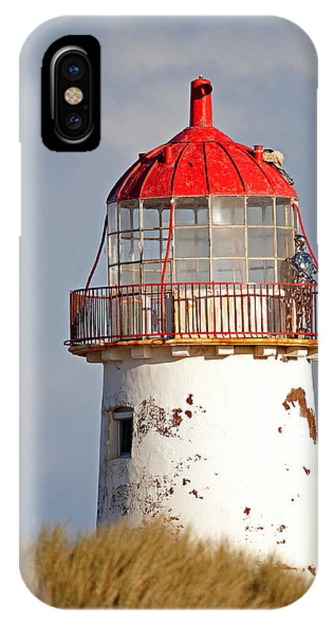 Point Of Ayr IPhone X Case featuring the photograph Point Of Ayr Lighthouse North Wales by Bob Kemp