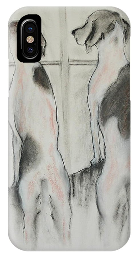 Pastel IPhone Case featuring the drawing Point Of View by Cori Solomon