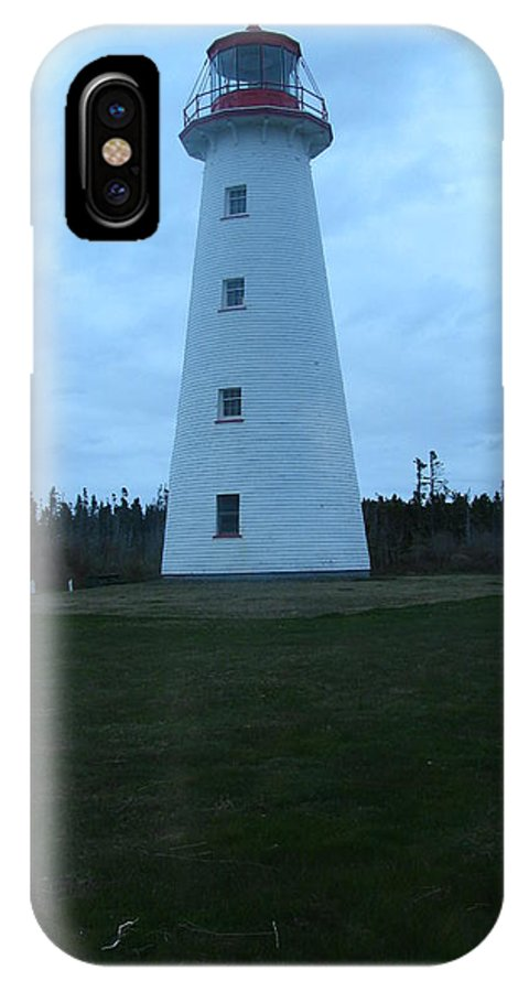 Lighthouse IPhone X Case featuring the photograph Point Prim Lighthouse by Tammy Bullard