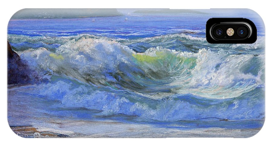 Seascape IPhone Case featuring the painting Point Reyes by Heather Coen