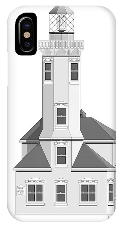 Lighthouse IPhone Case featuring the painting Point Wilson Architectural Drawing by Anne Norskog