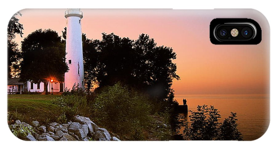 Landscape IPhone X Case featuring the photograph Pointe Aux Barques by Michael Peychich