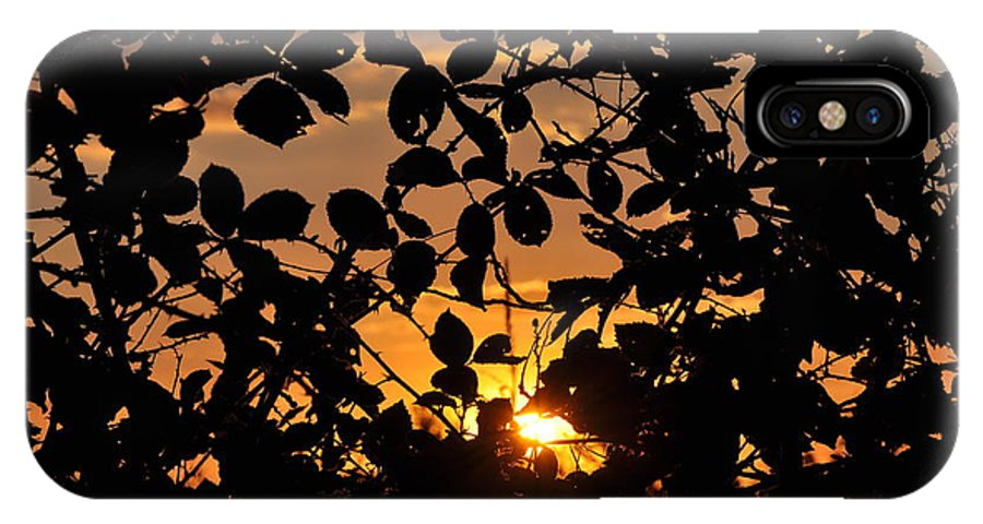 Sunset IPhone X Case featuring the photograph Pointed Shadow by Brittany Horton