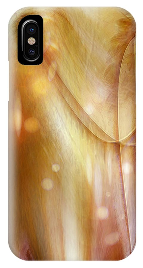 Abstract Art IPhone Case featuring the digital art Points Of Light by Linda Sannuti