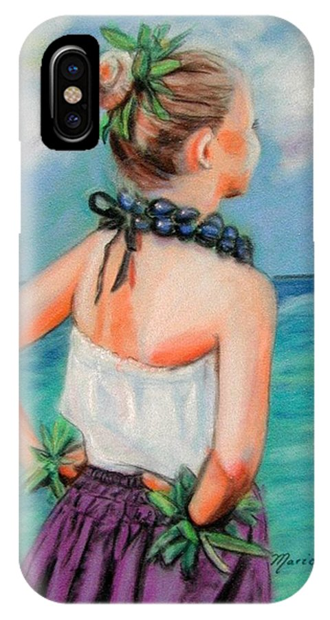 Hula Dance IPhone Case featuring the painting Poipu Hula by Marionette Taboniar
