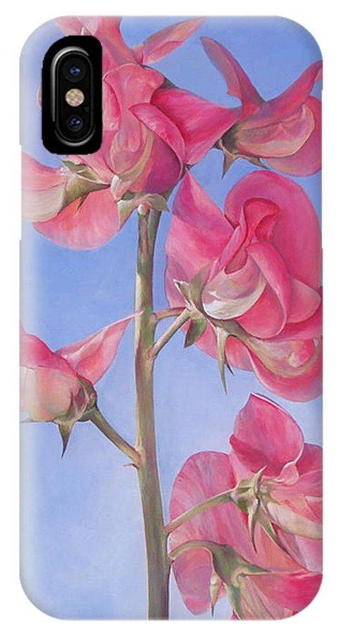 Floral Painting IPhone Case featuring the painting Pois De Senteur by Muriel Dolemieux