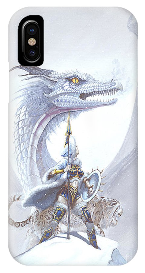 Dragon IPhone X Case featuring the painting Polar Princess by Stanley Morrison