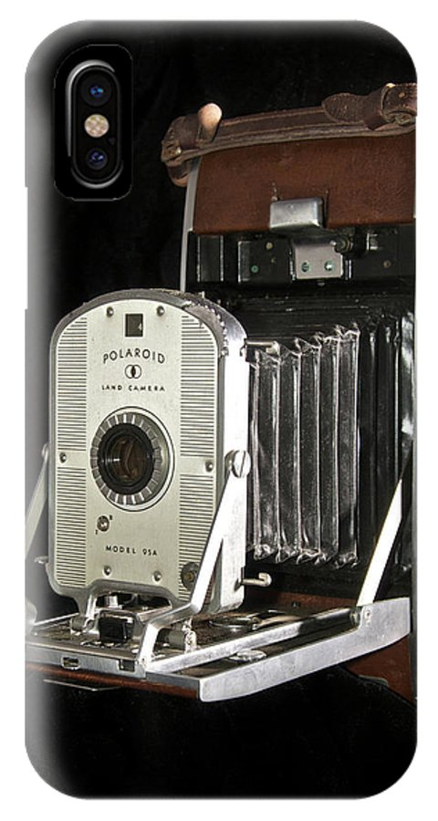Polaroid IPhone X Case featuring the photograph Polaroid 95a Land Camera by Michael Peychich
