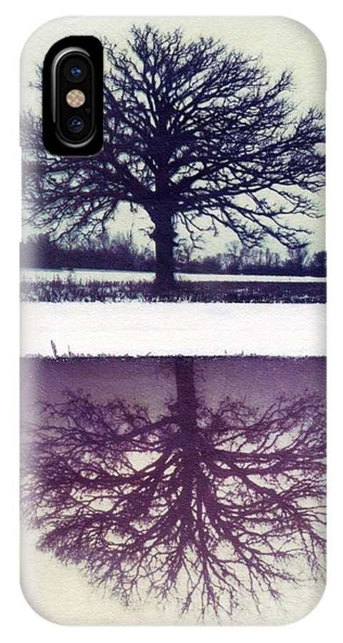 Polaroid IPhone X Case featuring the photograph Polaroid Transfer Tree by Jane Linders