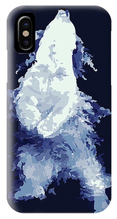 Polar Bear IPhone X Case featuring the digital art Polarr by Marian Ting