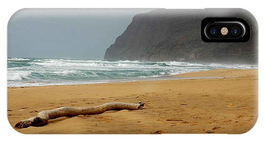 Beach IPhone X Case featuring the photograph Polihale State Park by Kathy Schumann