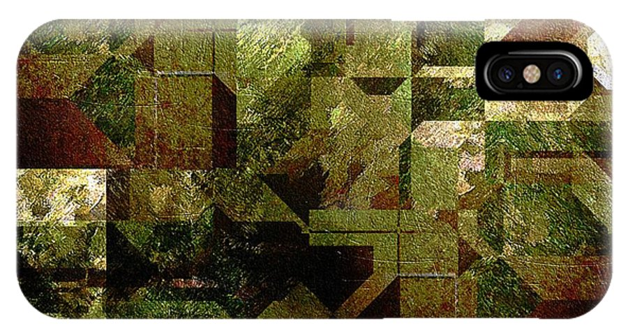 Abstract IPhone X Case featuring the painting Pollution by RC DeWinter