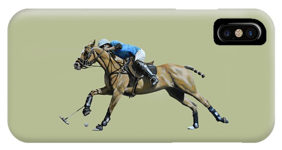 Polo Prints IPhone X Case featuring the painting Polo,polo,polo by Mark Robinson