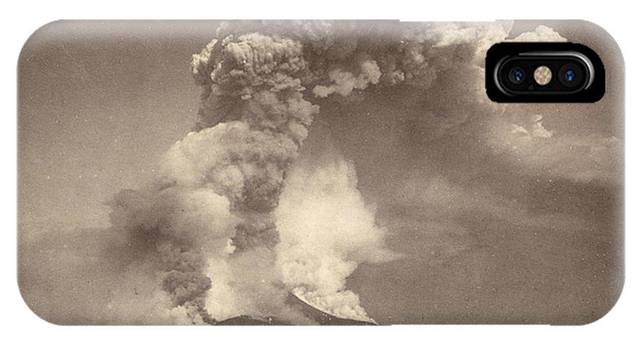 1872 IPhone X Case featuring the photograph Pompeii: Mount Vesuvius by Granger