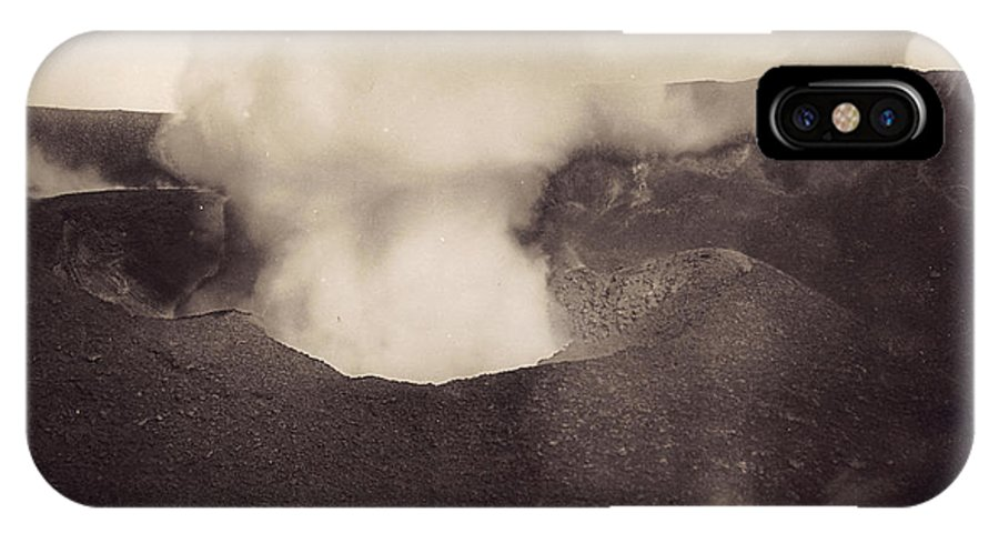1888 IPhone X Case featuring the photograph Pompeii: Vesuvius Crater by Granger