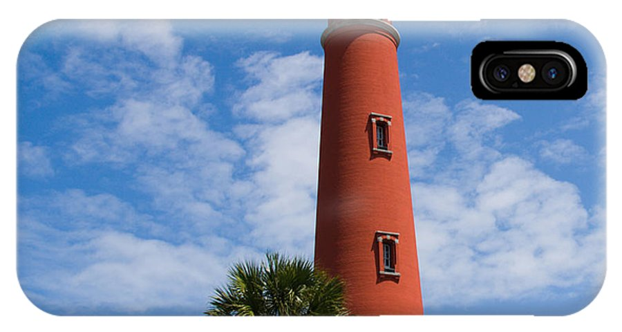 Ponce; De; Leon; Lighthouse; Light; House; Beacon; Navigation; Aid; Lens; Fresnel; Mosquito; Florida IPhone X Case featuring the photograph Ponce De Leon Inlet Lighthouse by Allan Hughes