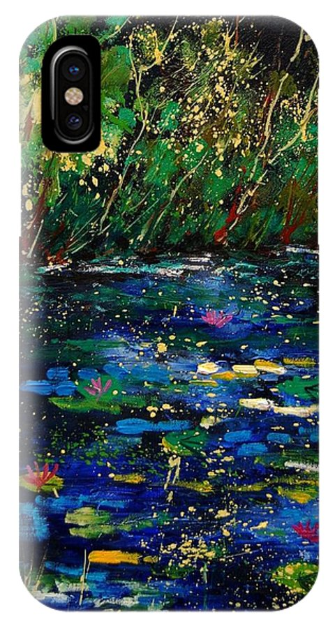 Water IPhone X Case featuring the painting Pond 459030 by Pol Ledent