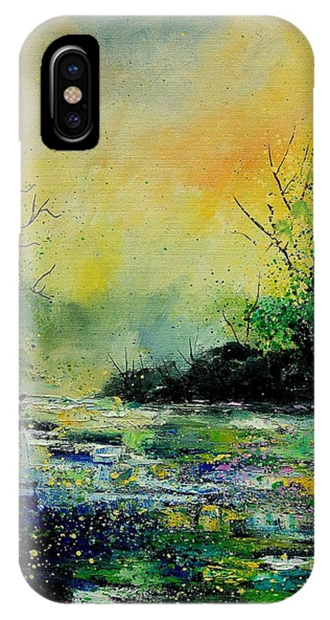 Water IPhone X Case featuring the painting Pond 459060 by Pol Ledent