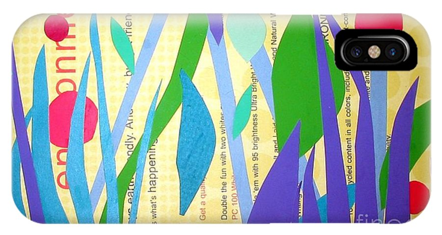 Landscape IPhone X Case featuring the mixed media Pond Life by Debra Bretton Robinson