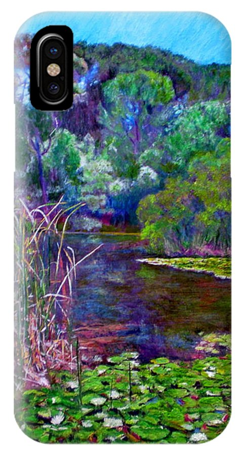 Pond IPhone X Case featuring the painting Pond Of Tranquility by Michael Durst
