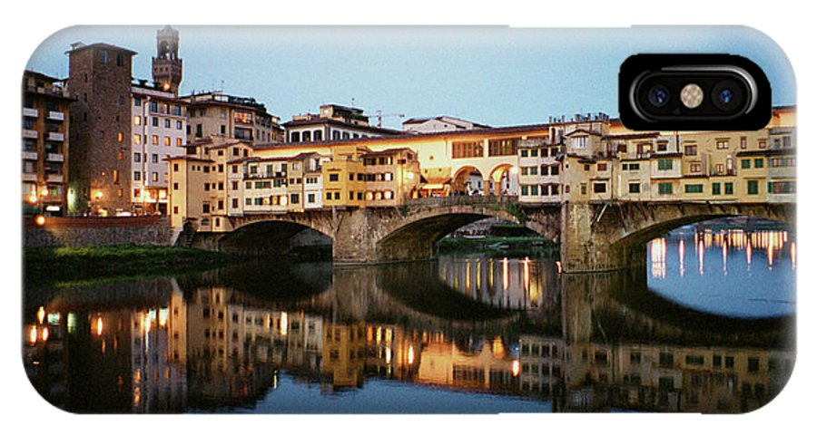 Italy IPhone X Case featuring the photograph Ponte Vecchio by Dick Goodman